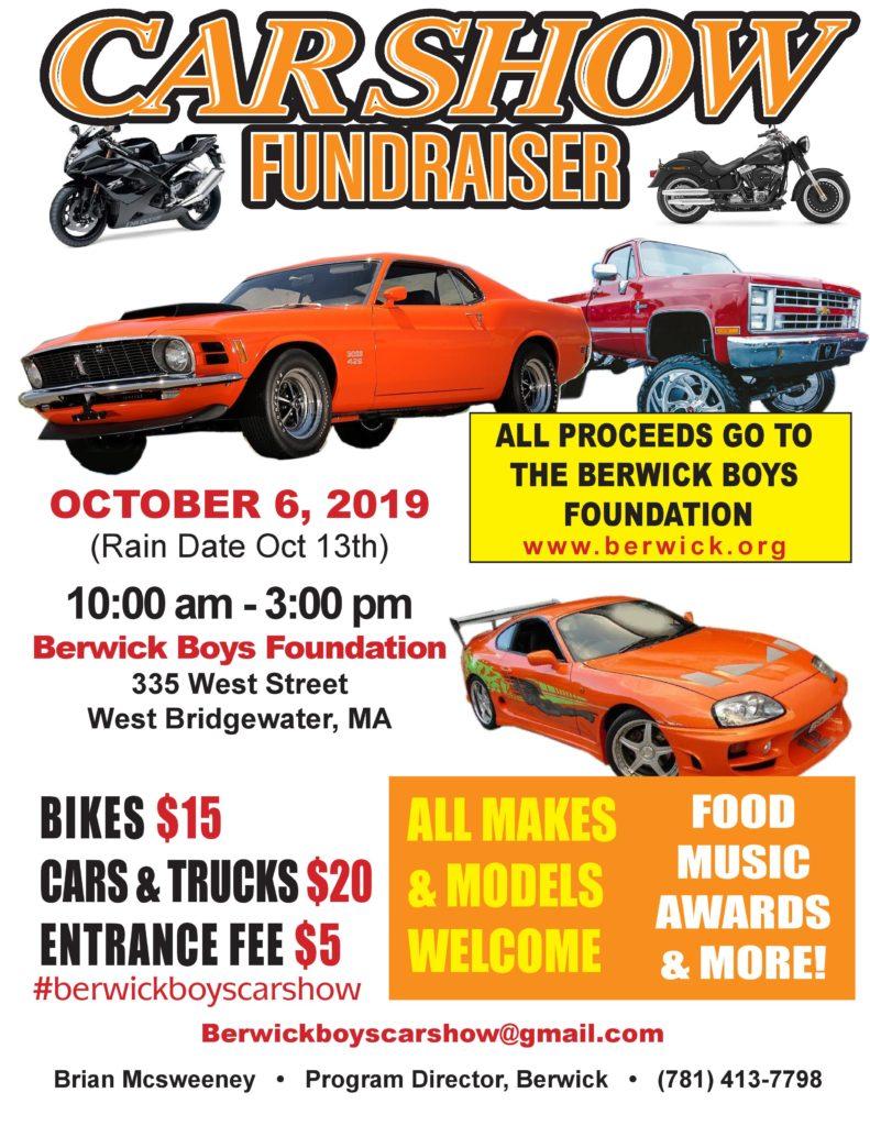 Flyer for Berwick Car Show 2019